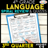 4th Grade Language Spiral Review | 4th Grade Grammar Practice | 3rd Quarter