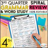 4th Grade Language Spiral Review | Homework, Morning Work,