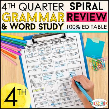 4th Grade Language Spiral Review | 4th Grade Grammar Practice | 4th Quarter