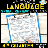 4th Grade Language Spiral Review | 4th Grade Grammar Review | 4th Quarter