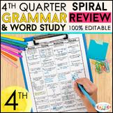 4th Grade Language Review & Quizzes | 4th Grade Grammar Review | 4th QUARTER