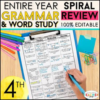 4th Grade Language Homework 4th Grade Morning Work for Dai