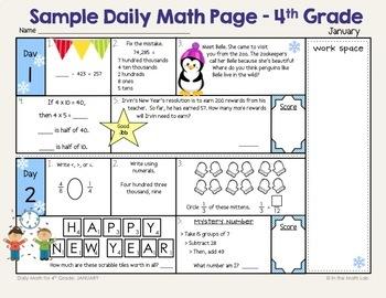 4th Grade Spiral Math MEGA BUNDLE