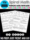4th Grade Spiral Math Morning Work/Homework
