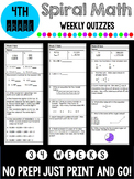 4th Grade Spiral Math Quizzes