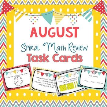 4th Grade Spiral Math Review - August