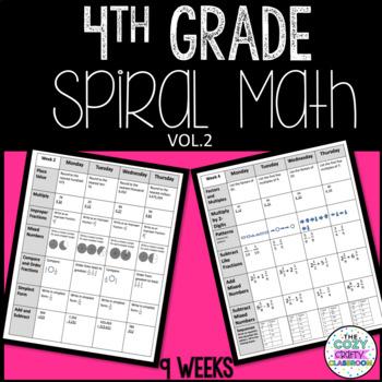 4th Grade Spiral Math Volume 2
