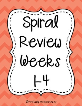 4th Grade Math Spiral Review (Weeks 1-4)