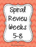 4th Grade Math Spiral Review (Weeks 5-8)