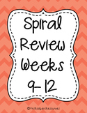 4th Grade Math Spiral Review (Weeks 9-12)