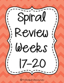 4th Grade Math Spiral Review (Weeks 17-20)