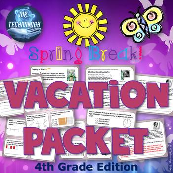 4th Grade Spring Break Vacation Packet {CCSS Aligned}