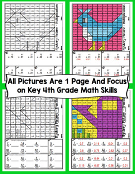 4th Grade Spring Math: 4th Grade Math Mystery Pictures