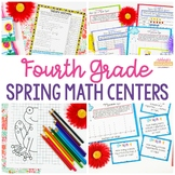 4th Grade Spring Math Centers - Fun Test Prep