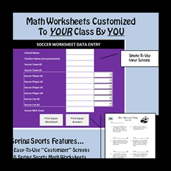 Class-ified Math - 4th Grade Spring Sports