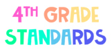 4th Grade Standards Posters