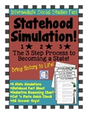 4th Grade Statehood Simulation! (3 Steps to Statehood Activity Set)