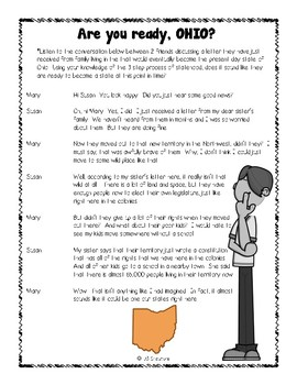 4th Grade Statehood Simulation! (3 Steps to Statehood Activity Set)