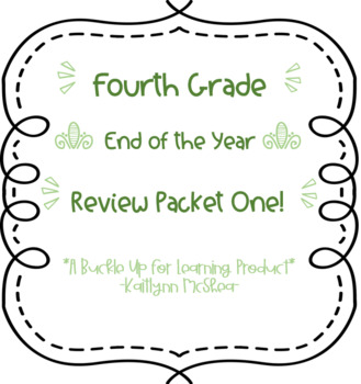 4th Grade Story Problem Review Task Cards ONE