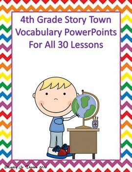 4th Grade Story Town Vocabulary PowerPoints
