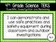 """4th Grade Streamlined Science TEKS """"I Can"""" Statement Posters: CHEVRON BRIGHTS"""