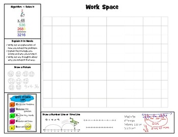 4th Grade Student Work Placemat