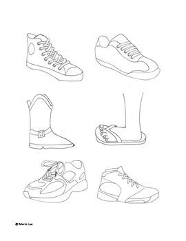 4th Grade Sub Plan: Shoescapes
