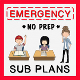 4th Grade Sub Plans (use for Distance Learning)