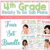 4th Grade Sub Plans Ready To Go for Substitute. No Prep. FOUR full days.