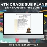 4th Grade Sub Plans 3 Set Bundle- Emergency Substitute Plans for Sub Folder