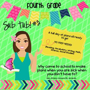 4th Grade Sub Tub 3 - Substitute Plans