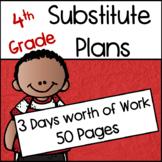 4th Grade Substitute Plans