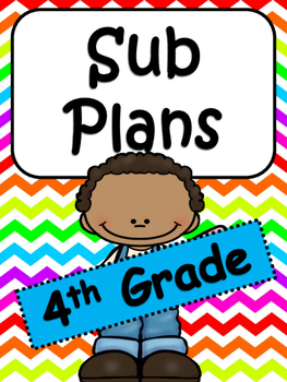 4th Grade Substitute Plans: 3 Days