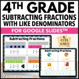 4th Grade Subtracting Fractions with Like Denominators {4.NF.3} Google Classroom