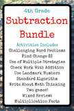 4th Grade Subtraction Bundle