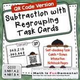 4th Grade Subtraction with Regrouping with self-checking Q