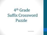 4th Grade Suffix Crossword Puzzle