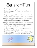 4th Grade Summer Fun! - Share Summer Plans, End of the Yea