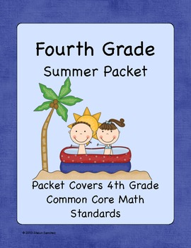 4th Grade Summer Math Workbook- Common Core Aligned- Top Selling Product!