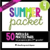 4th Grade Summer Packet
