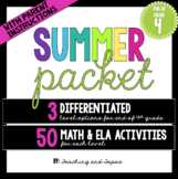 4th Grade Summer Packet (Differentiated)