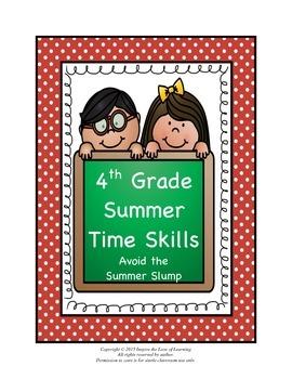 4th Grade Summer Time Skills