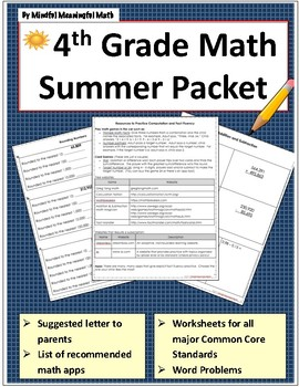 4th G Math Summer Work Resources & Activities