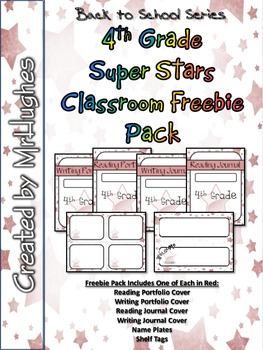 4th Grade Super Stars Classroom Freebie Pack