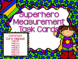 Superhero Measurement & Data Task Cards - CCSS aligned!