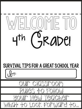 4th Grade Survival Guide End of the Year Writing Activity