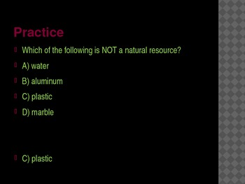 4th Grade TCAP Practice Earth's Materials