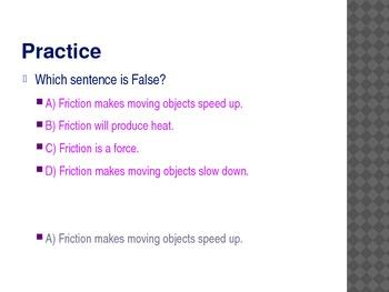 4th Grade TCAP Practice Motion