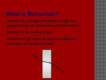 4th Grade TCAP Practice, Reflection, Absorption, and Refraction of Light