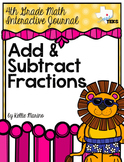 4th Grade TEKS Add and Subtract Fractions Interactive Journal